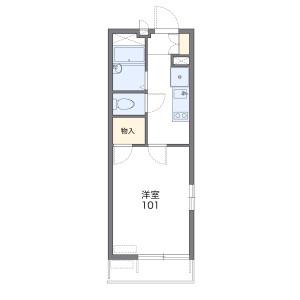神戸市灘區大内通-1K公寓大廈 房間格局