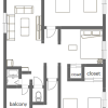 3LDK Apartment to Rent in Katsushika-ku Floorplan