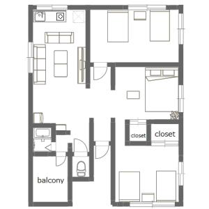 3LDK Mansion in Yotsugi - Katsushika-ku Floorplan