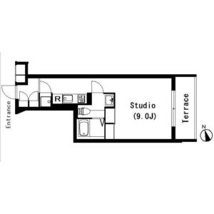1K Mansion in Chuocho - Meguro-ku Floorplan