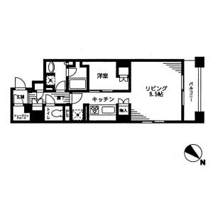 1R Mansion in Nihombashibakurocho - Chuo-ku Floorplan