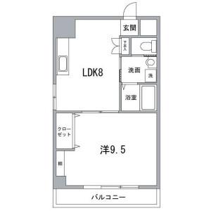 1DK Mansion in Eitai - Koto-ku Floorplan