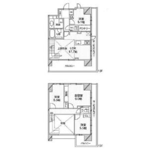 4LDK Mansion in Shirokanedai - Minato-ku Floorplan