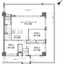 3LDK {building type} in Yamakawa - Kunigami-gun Motobu-cho Floorplan