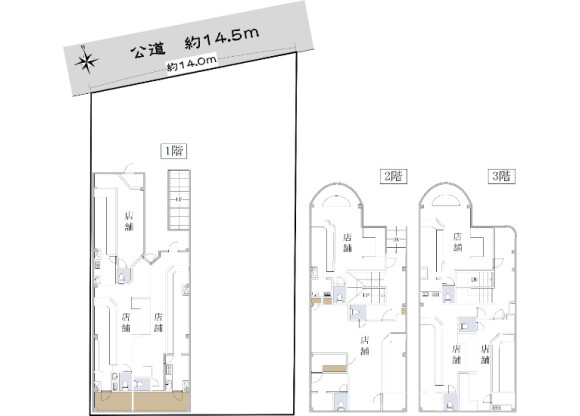 在名古屋市中川區購買整棟 零售的房產 房間格局