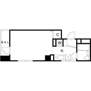1R Mansion in Nishigotanda - Shinagawa-ku Floorplan