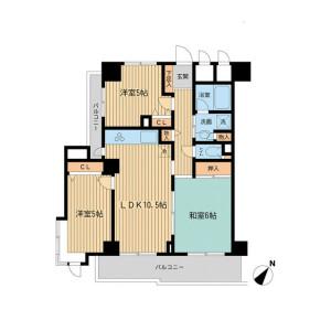 2SLDK Mansion in Wakamatsucho - Shinjuku-ku Floorplan
