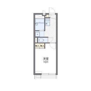 1K 아파트 in Oyamamachi - Machida-shi Floorplan