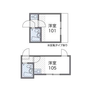 文京区 本駒込 1K アパート 間取り