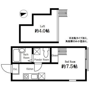 1R Apartment in Hoshikawa - Yokohama-shi Hodogaya-ku Floorplan