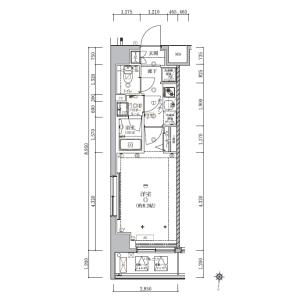 1LDK {building type} in Higashikomagata - Sumida-ku Floorplan