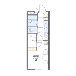 1K Mansion in Nishibori - Saitama-shi Sakura-ku Floorplan