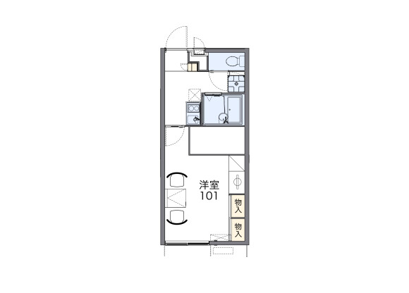 1K Apartment to Rent in Ichihara-shi Floorplan