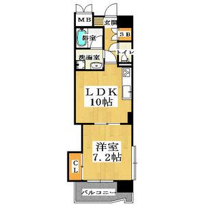 1LDK Mansion in Kawarayamachi - Osaka-shi Chuo-ku Floorplan