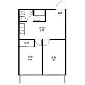 2LDK Mansion in Nishikata - Bunkyo-ku Floorplan