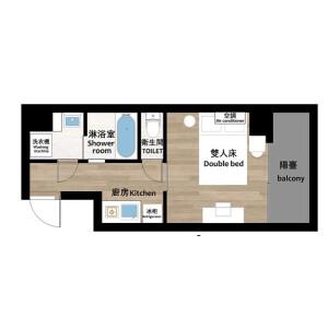 台东区東上野-1K公寓大厦 楼层布局
