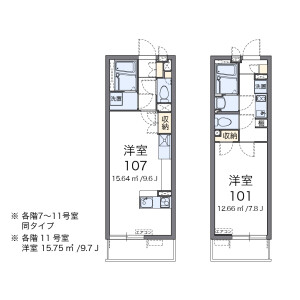 1R Mansion in Niizominami - Toda-shi Floorplan