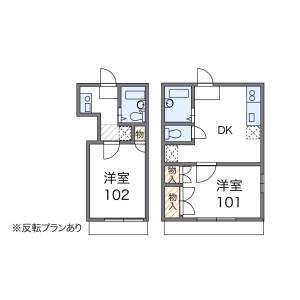 1DK Apartment in Higashikashiwagaya - Ebina-shi Floorplan