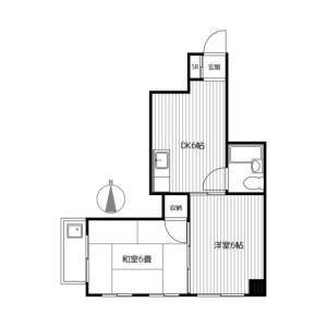 2DK Mansion in Sengencho - Yokohama-shi Nishi-ku Floorplan