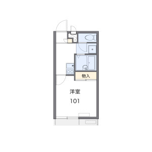 1K Apartment in Nibancho - Kyoto-shi Kamigyo-ku Floorplan