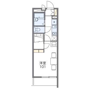 1K Mansion in Toyosaki - Osaka-shi Kita-ku Floorplan