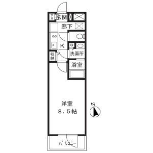 1K Mansion in Koyamadai - Shinagawa-ku Floorplan