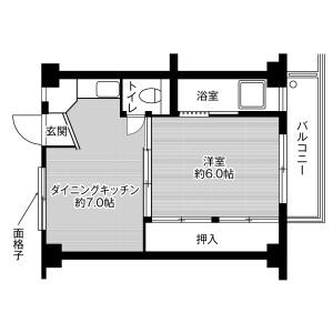 1DK Mansion in Suecho mizukami - Mizunami-shi Floorplan