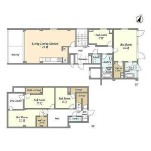 4SLDK Mansion in Hiroo - Shibuya-ku Floorplan
