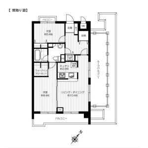 2LDK 맨션 in Higashi - Shibuya-ku Floorplan