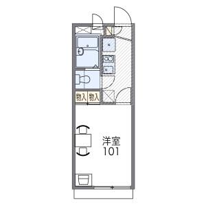 八尾市 二俣 1K アパート 間取り