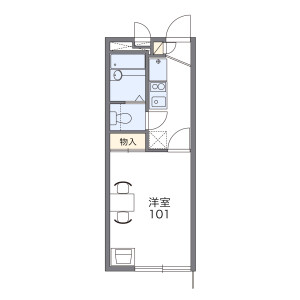 1K Apartment in Goroku - Sendai-shi Aoba-ku Floorplan