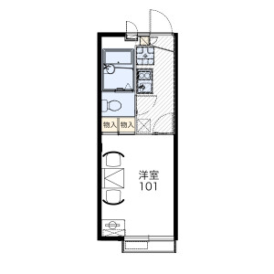 1K Apartment in Minamicho - Fuchu-shi Floorplan
