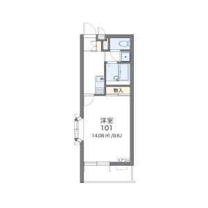 1K Mansion in Minamiyawata - Ichikawa-shi Floorplan