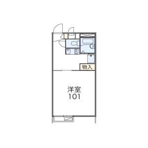 1K Apartment in Nakai - Hanno-shi Floorplan
