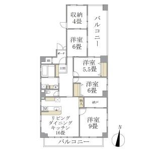 4LDK Mansion in Wada - Suginami-ku Floorplan