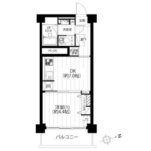 1DK {building type} in Hongo - Bunkyo-ku Floorplan