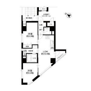 港区 芝浦(2〜4丁目) 2LDK {building type} 間取り