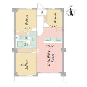 3LDK {building type} in Minamimagome - Ota-ku Floorplan