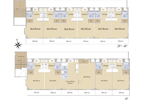 Whole Building Apartment to Buy in Edogawa-ku Floorplan