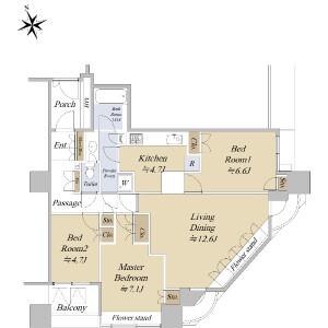 3LDK {building type} in Nishiwaseda(sonota) - Shinjuku-ku Floorplan