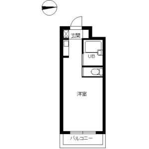 1K Mansion in Himonya - Meguro-ku Floorplan