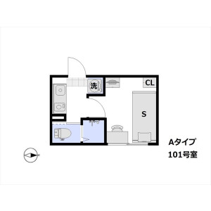 1K Mansion in Kameido - Koto-ku Floorplan