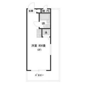 1R {building type} in Shimomaruko - Ota-ku Floorplan