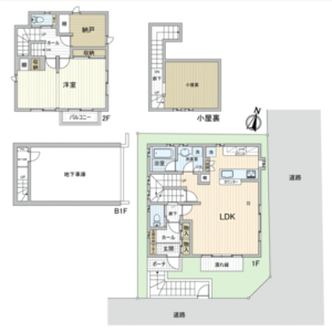 1SLDK {building type} in Kakinokizaka - Meguro-ku Floorplan