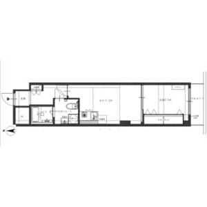1DK {building type} in Kitashinjuku - Shinjuku-ku Floorplan