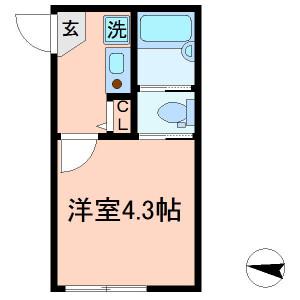 江戸川区 南小岩 1K アパート 間取り