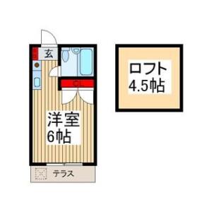 ふじみ野市 鶴ケ舞 1R アパート 間取り
