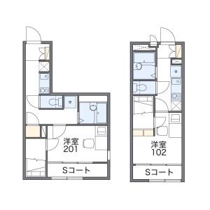1K Mansion in Shimorenjaku - Mitaka-shi Floorplan