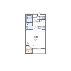 1K Apartment in Shindenjuku - Zama-shi Floorplan