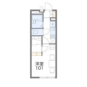 1K Mansion in Umebayashi - Fukuoka-shi Jonan-ku Floorplan